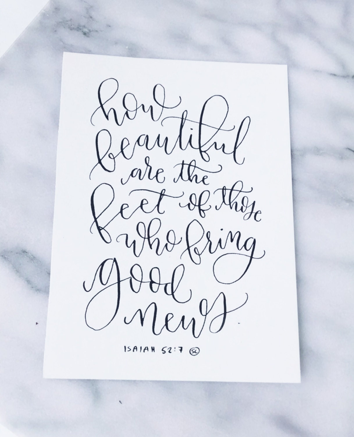 Calligraphy Verse 8x10 Quote How Beautiful Are The Feet