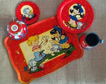Ohio Art Company - Child's 5-piece Tea Set - Tin