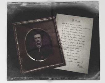 Poe Throw Blanket: Bedding, decor, Gothic, poem, dorm, black, white, fleece,