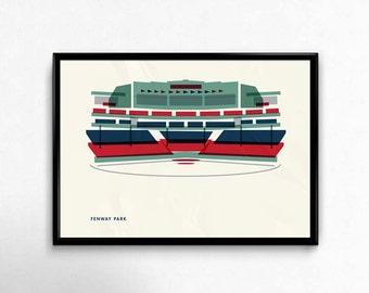 Fenway Park, Boston Red Sox, Baseball, Stadium, Print, Man Cave, Art, Christmas gift