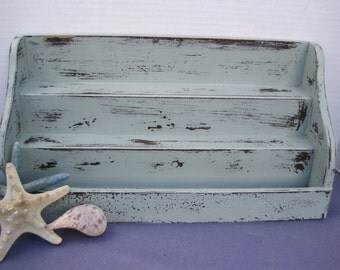 Shabby Distressed  Stepped Wood Shelf
