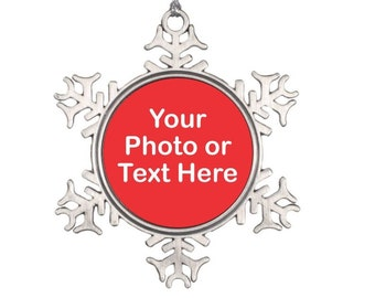 Personalized Christmas Ornament - Custom Ornament - Snowflake Christmas Ornament - Personalized Gift - Make Your Own Ornaments