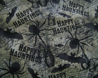 Happy Haunting Cotton Fabric by the yard