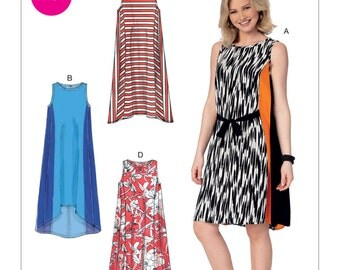 McCall's Pattern M7403 Misses' Sleeveless, Side-Panel Dresses and Belt
