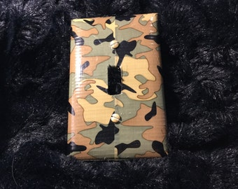 Camo switch plate cover