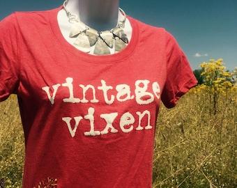 Vintage VIxen Scoop necked Tee