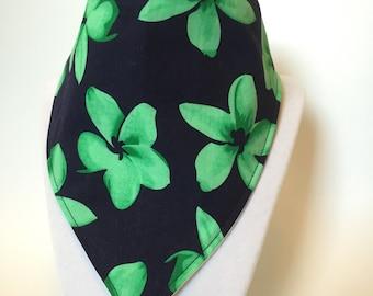 Hawaii inspired bandana style drool bib