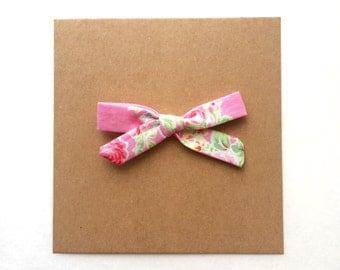 Bubblegum Pink Floral Simple Bow