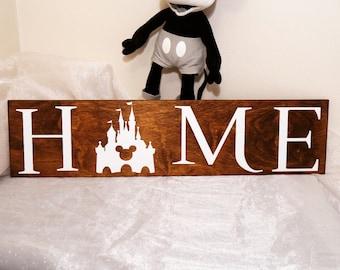 Disney Home Sign, Home Sign, Disney Sign, We Do Disney, Home Decor, Wall Decor, Sign, Disney, Mickey Castle, Disney Castle, Mickey Sign
