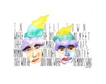 Mardi Gras Mambo-watercolor painting-PRINT