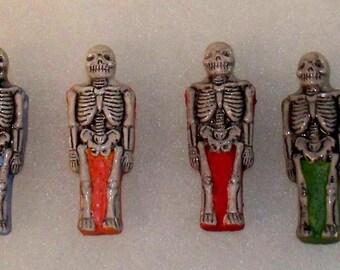 Hand Painted Peruvian Ceramic Bead - Skeleton