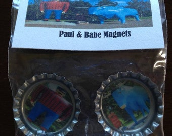 Paul And Babe Bottle Cap Magnets