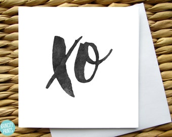 XO Greeting Card. Love Card. Birthday, Anniverary, Wedding, New Baby Greeting Card. Mothers Day Card. Valentines Card. Blank Greeting Card