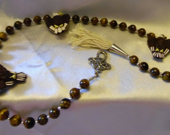 Eagle-themed Paternoster/prayer/meditation beads  **FREE SHIPPING!!