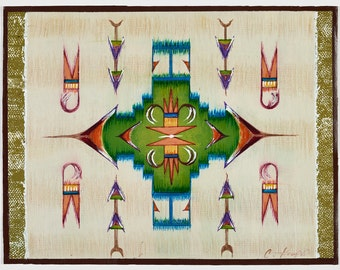 Native American Placemat Series - Set of Four - One of Each Pattern