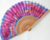 Silk fan. Handmade.