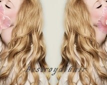 14 Inches Dark Ash Blonde Color Indian Remy Clips in Hair Extensions RHS010