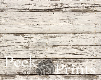 8ft.x8ft. Faded White Planks Wood Photography Backdrop