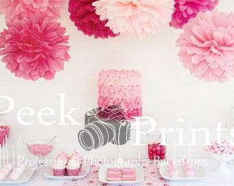 7ft.x5ft. CaKE SmAsH- Vinyl Photography Backdrop- First Birthday Backdrop