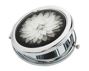 Aster Pocket Mirror // purse mirror - compact mirror - bridesmaid gift