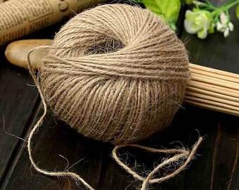 100M/lot 3Ply Natural Jute Twine Burlap String Cord Wrap Gif Craft Making Decoration