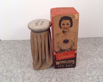 Ice Bag Holder with Original Box Prop Only 1940s 1950s theater Store Display