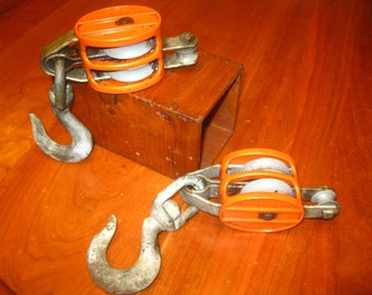 Rope Pulleys , Block and Tackles , Hook and Pulleys