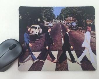 The Beatles - Abbey Road Album Cover Mousepad / Mouse Mat