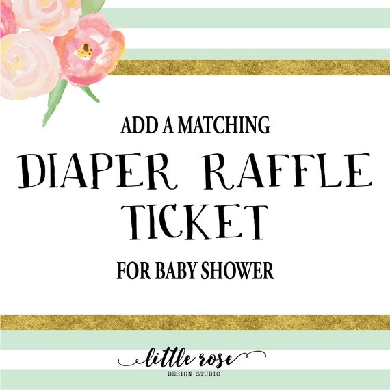 diaper raffle tickets baby shower diaper raffle digital file