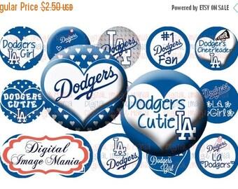 HUGE SALE LA Dodgers Inspired Instant Download 4x6 Digital Printable 1 Inch Circle Bottle Cap Images