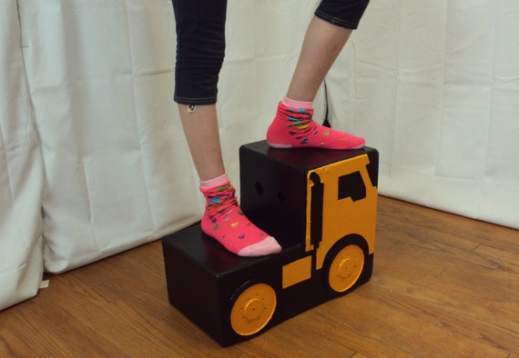 Truck Kids Step Stool Handcrafted Free Shipping Semi