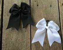 "8 inch cheer bows, girls hair bows, hair bow, girl bows, baby bows, 6"" hair bows, cheer bows, bows, large hairbows, pony tail hair bow"