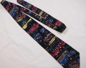 Mercedes Benz omnibus design vintage tie