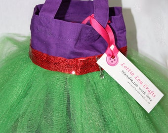 Purple and Green Princess Tutu Bag