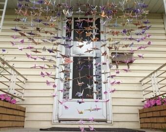 20 Strands- Origami Cranes Backdrop- Wedding Decor- Senbazuru