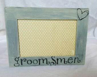 Groomsmen or Groomsman Picture Frame - Groomsman gift- Rustic Wedding Frame