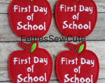 1st Day of School Apple Feltie