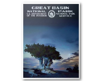 Great Basin National Park Travel Poster & Postcard