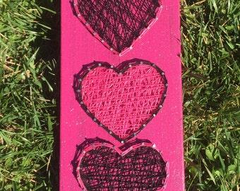 3 Hearts String Art