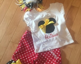 Mickey pant outfit