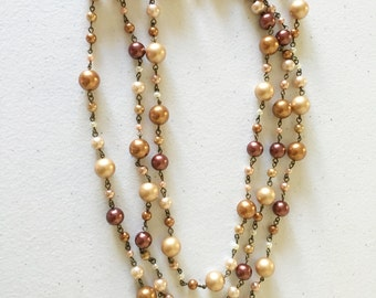 """68"""" fall pearl necklace"""