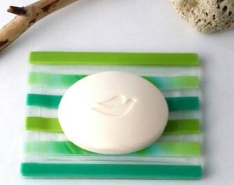 soap dish fused glass, soap holder,  bathroom utensil