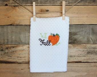 I Heart Fall kitchen towel