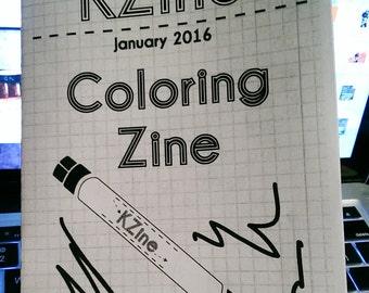 KZine Coloring Zine - FREE US SHIPPING