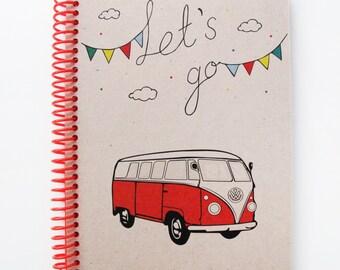Vw Campervan Series Spiral Notebook 2