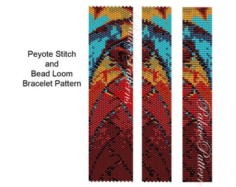 Loom and Peyote Stitch Bracelet Patterns - PP2 - Wide and Narrow Versions
