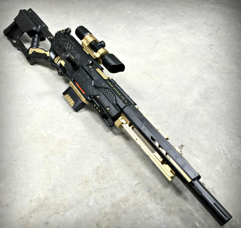 Nerf Longstrike Black Gold Limited Sets