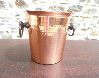 Vintage French MARTELE Copper Garden Planter/Jardiniere/Ice Bucket