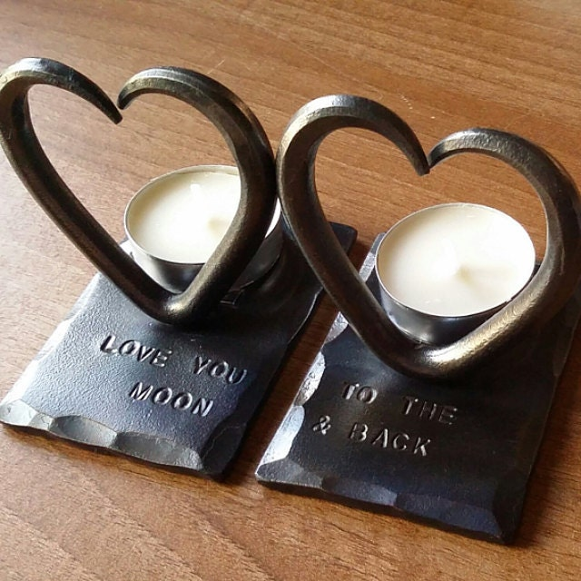 Sixth Wedding Anniversary Gift Ideas For Him: 6th Anniversary Personalized Love Heart T Lights Blacksmith