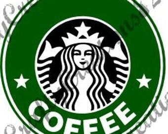 Starbucks SVG Image File Just Add Name